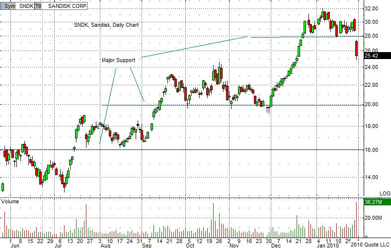 SNDK Chart 1-31-10